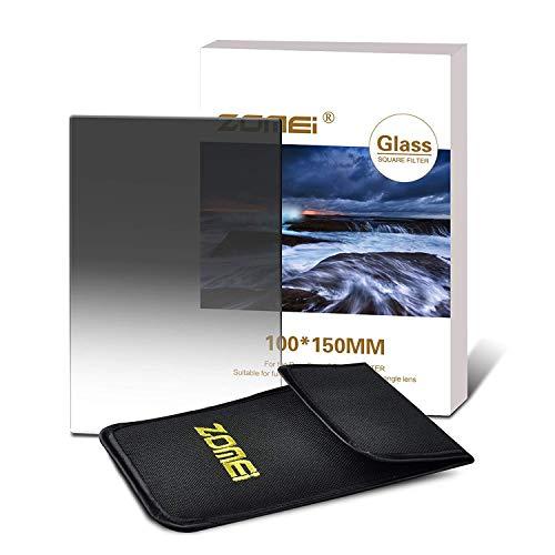 Zomei Ultra Slim HD 18 strati Super Multistrato Schott Glass PRO 2-Stop ND4 Densità neutra Grigio ND4 - Filtro quadrato serie Z-PRO 100 mm x 150 mm