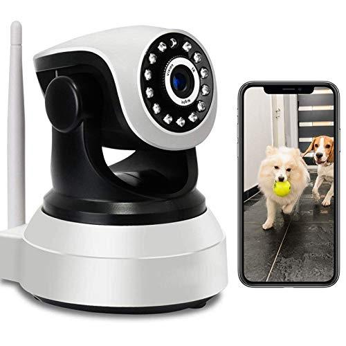 Cámara IP de Interior Monitor de bebé HD 1080P Cámara WiFi Interior de vigilancia PTZ Pan355°/Tilt90° iOS/Android Audio Bidireccional Detección de Movimiento Alarma APP HD Visión Nocturna 【Cámara+32G】
