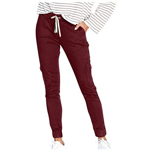 YUNGE Pantalon Vestir Mujer,Pantalon Ciclismo Mujer,Pantalones Mujer,Pantalones Cargo Mujer,Pantalones Casuales De ContraccióN Multibolsillo De Los Pantalones Atractivos De La Moda De Las Muje