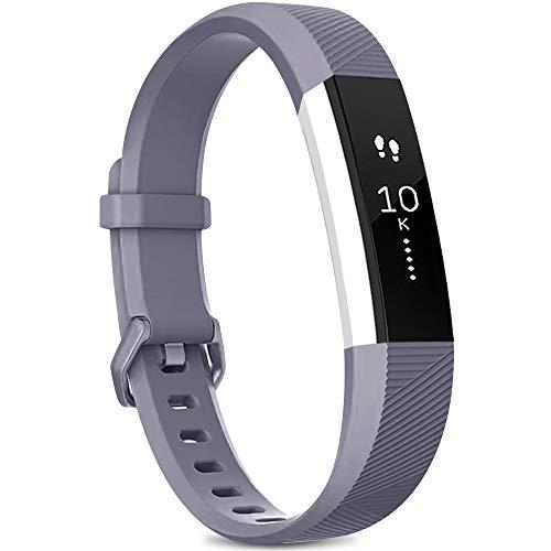 Yandu Correa Compatible con para Fitbit Alta HR/Fitbit Alta, Correa de Reloj para Hombres y Mujeres, Correa Deportiva Ajustable para Fitbit Alta HR/Fitbit Alta (sin Reloj) (Grigio, S)