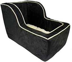 Snoozer Luxury High Back Console Lookout, Black with Herringbone Cording, Large