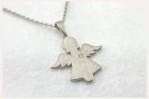 ♡ Schutzengel Anhänger, Silber - mit/ohne Brillant ♡ In Handarbeit gefertigter Anhänger aus der Kollektion: - Heavenly -