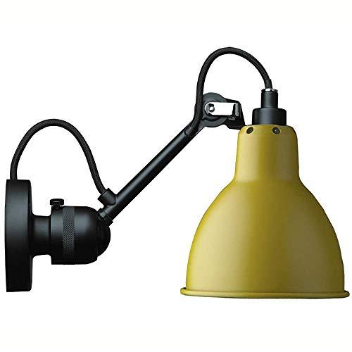 Lámparas de Pared,Lámpara de pared telescópica industrial vintage, luces de pared con brazo oscilante ajustable, focos de pared para lectura, sala de estar, color negro