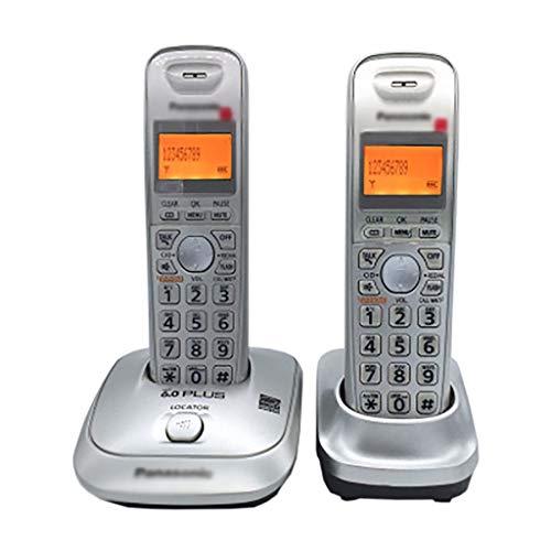 ZYFA Teléfono Fijo Teléfono inalámbrico de Big Button DECT, Agenda de 50 entradas, Ajuste de inglés/español, Llamadas de intercomunicación Gratuita/Tienda, se Pueden Extender a hasta 6 teléfonos