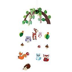 Mobile de la forêt et de ses animaux