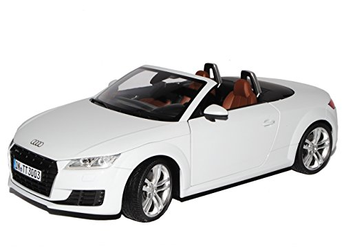 Minichamps A-U-D-I TT 8S Cabrio Roadster Gletscher Weiss 3. Generation Ab 2014 1/18 Modell Auto mit individiuellem Wunschkennzeichen