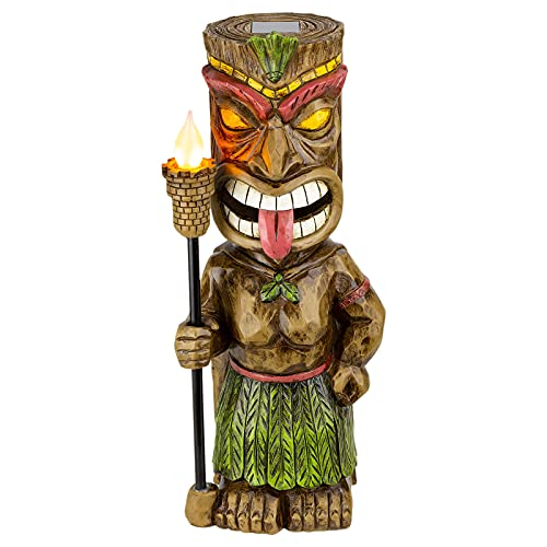 NANMUUYI Led Solar Light Statue,LED Solar Light Hand-Painted Torch Lamp, Garden Statue Figurine,Outdoor Yard Art Ornament, for Patio Lawn Porch Decorations
