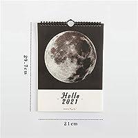 MJYGVカレンダー2021 こんにちは2021ウォールカレンダーアジェンダ365日ぶら下げ毎日のプランナーを掛ける 2021年カレンダーMJ (Color : C)