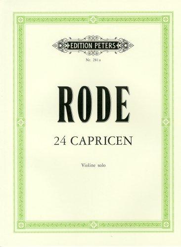 ロード(ローデ): 24のカプリス/ペータース社/バイオリン教本
