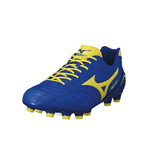 MIZUNO Neo Zen MD Bota de Fútbol Caballero, Azul/Amarillo, 40.5