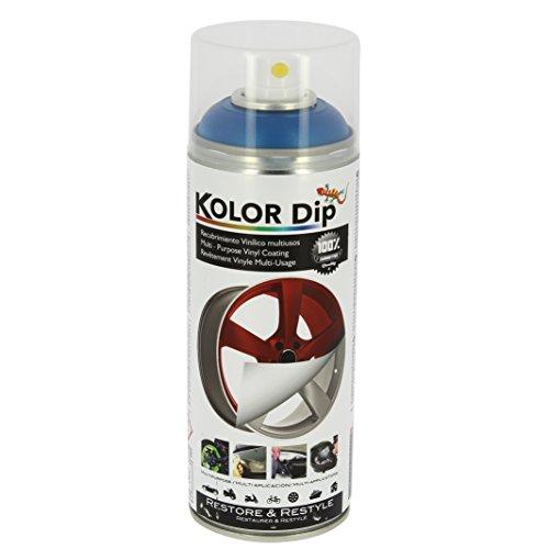 Kolor Dip Spain KD12003 Pintura en Spray con Vinilo Líquido Extraible, Azul Metalizado