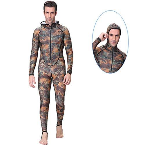 EMEIJIA Mannen Wetsuit, Een Stuk Duikpak, Zon -Camouflage Badpak, Sneldrogend Gewatteerd Wetsuit voor Snorkelen, Gentleman Volledige Lengte Rash Guard