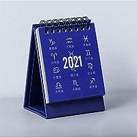 PUERI 2021年カレンダー 卓上カレンダー 折りたたみ ディングマンスリーカレンダー フリップタイプ 2021年1月から12月まで 学校 オフィス 家庭用 クリスマス・新年 プレゼント