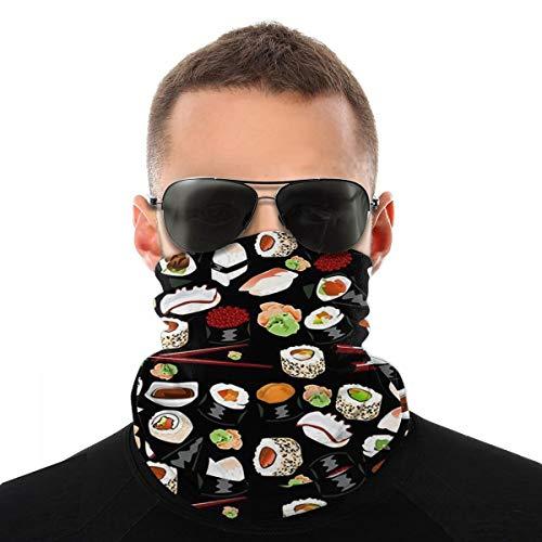 Yummy Sushi Patrón gorro, gorro, bandana, pasamontañas, cuello