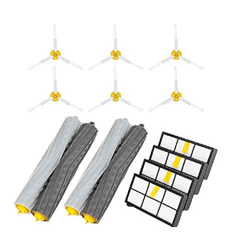 TIREOW Accessoires de robot de balayage - Accessoires d'aspirateur Brosse de rechange Accessoires pour i-Robot Roomba 900 960 980(brosse principale ;brosse latérale;Filtres)
