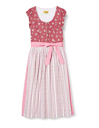 BERWIN & WOLFF TRACHT FOLKLORE LANDHAUS Mädchen 505611 Kinderkleid, Rosa mit Natur, 152
