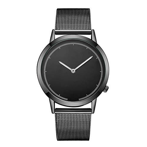 LABIUO Uhren für Männer, Mode Einfache Quarz Edelstahl Casual Armbanduhr mit Mesh Gürtel(B,Einheitsgröße)