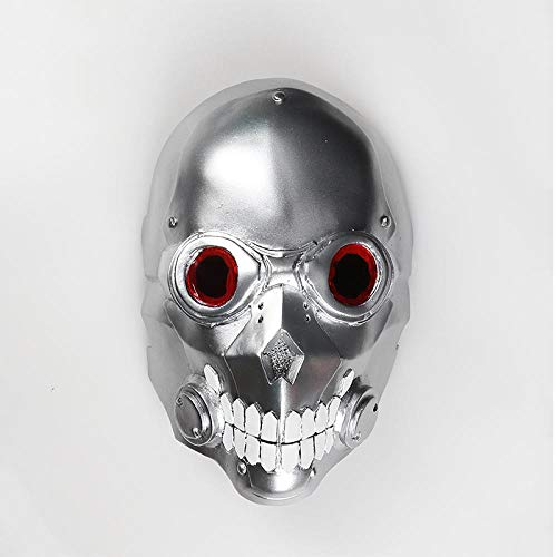 XWYWP Halloween Maske Death Gun Maske Phantom Maske Gun Gale Cosplay Requisiten Halloween Helm DeathGun