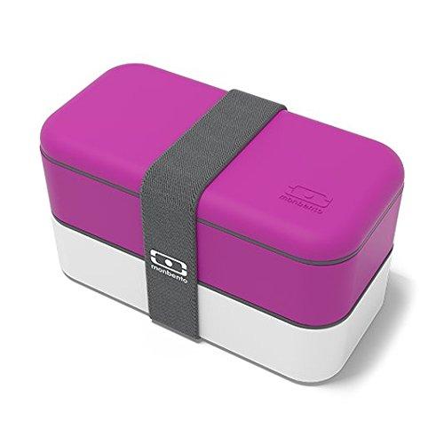 monbento Original - Lunch Boxes (Púrpura, Color Blanco, Rectangular)