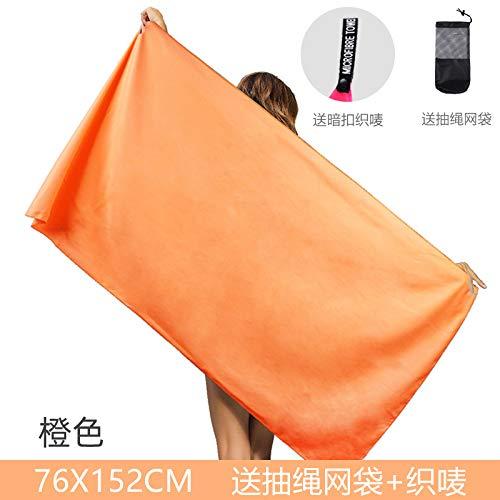 MKHB Toalla de Playa Impresa de Secado rápido de Terciopelo de Doble Cara Toalla de Playa de Microfibra para Adultos 160 * 80 cm Naranja