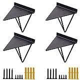 Soportes de estante triángulo de horquilla negra, soportes geométricos de...