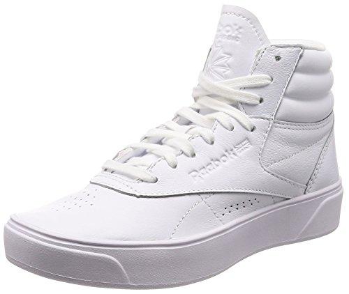 Reebok Freestyle Hi Nova, Zapatillas Altas Mujer, Blanco (Enhanced-White 0), 40 EU