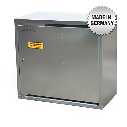 2 x 11 kg Propangas Flaschenschrank/Gasflaschenschrank verzinkt OHNE RÜCKWAND (geeignet für 3-, 5, 10, 11 kg Gasflaschen - Gasschrank Schutzschrank)
