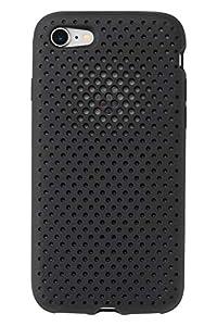 AndMesh iPhone8 iPhone7 ケース Mesh Case シンプル 放熱 軽量 耐衝撃 Qi対応 ブラック 612-956901