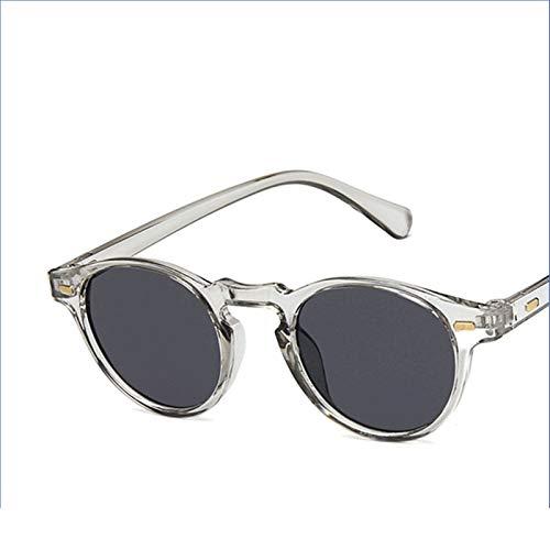 Oval Pequeñas Gafas de Sol Clear Classic UV400 Gafas de Sol Tendencias Femeninas Transparentes Trasas para Mujeres Diseñador Gafas (Color Name : C)
