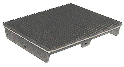 Roller-Grill Gussplatte für Klappgrill MAJESTIC, SAVOYE gerillt Breite 240mm EP oben Länge 250mm