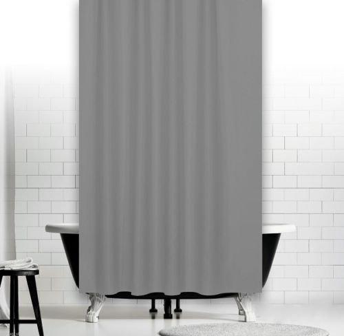 KS Handel 24 Textil Duschvorhang 240x200 cm / Hellgrau Uni