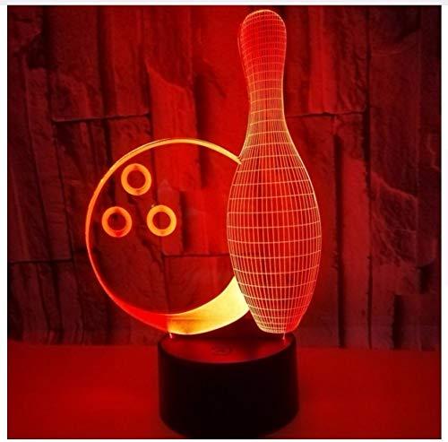 Color Táctil 3D Ilusión Lámpara Llevó La Luz De La Noche Usb Lámpara De Mesa Para Niños Bebé Regalo De Los Niños Dormitorio De La Bola De Bowling Lámpara 3D
