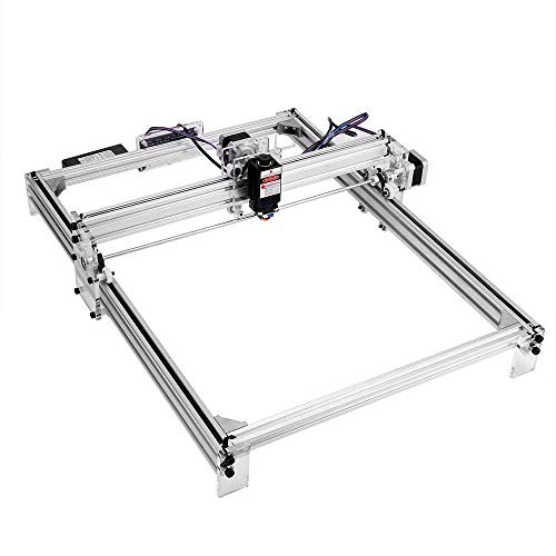 Kacsoo CNC Máquina de grabado láser DIY Kit, Desktop Router Holzschnitzerei Gravur Schneidemaschine, 12 V USB impresora Logo imagen impresora para cuero madera y plástico