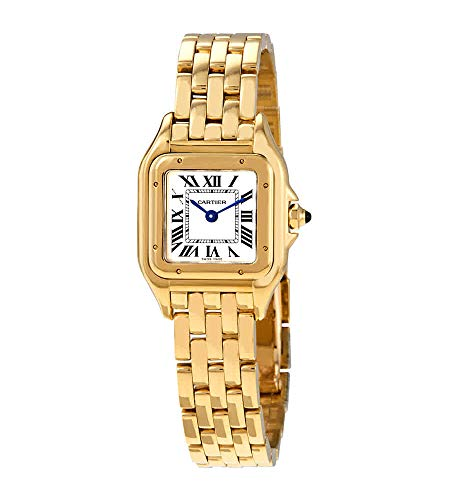 Cartier Panthere White Dial 18kt Yellow Gold Ladies Watch WGPN0008