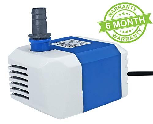 GLUN Submersible Pump for, Aquarium, Fountains, 18W,...