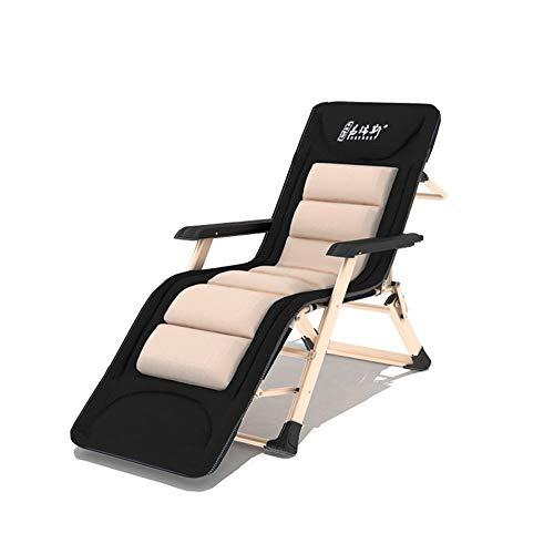 YLCJ Lazy stoel Vouwstoel Ligstoelen Woonkamerstoel voor thuisgebruik Balkon Tuinstoel Siesta Backrest Multifunctionele draagbare tuinbedden Strandstoel voor binnen buiten + Verwijderbaar 6