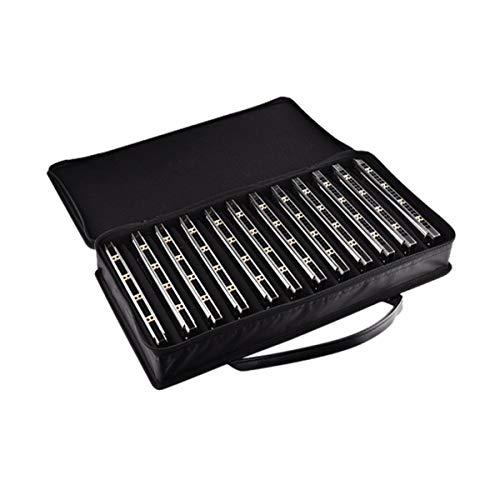 Armónica de acordes profesional de 24 orificios, armónica de tono completo de 12 tonos, A/B/C/D/E/F/G/A # / C # / D # / F # / G #, adecuada para principiantes, intérpretes avanzados, pre