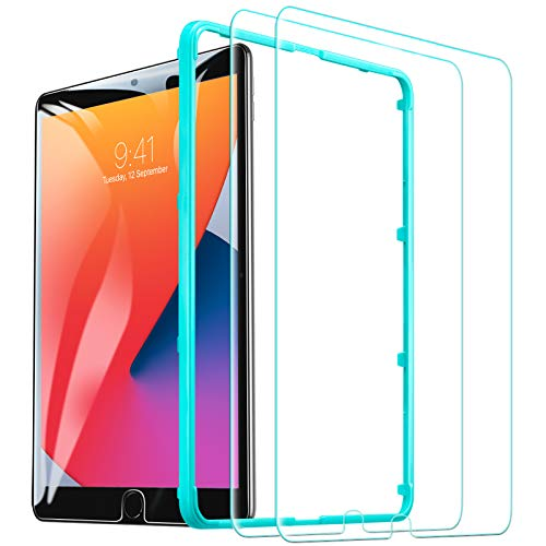 ESR Screen Protector for iPad 8th Generation 10.2 (2020)/7th Gen (2019)/Air 3 (2019)/Pro 10.5 (2017)[Free Installation Frame], [Scratch-Resistant] 9H Hardness HD Clear Premium Tempered Glass, 2 Pack