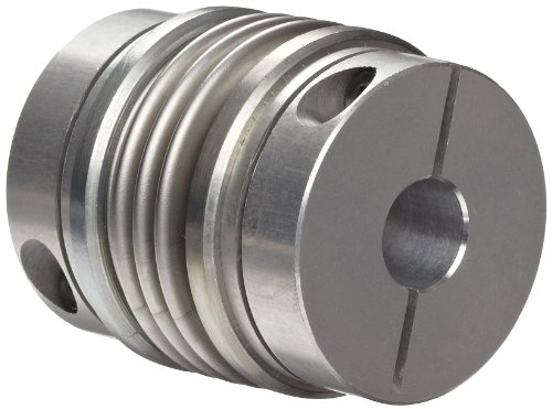 Huco 536.41.4747.Z Size 41 Flex-B Bellows Coupling, Stainless Steel with Aluminum Hubs, Inch, 0.75