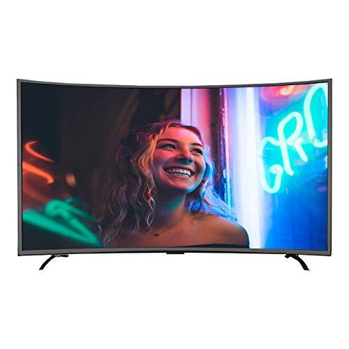 CHARON TV LCD Curvado Ultra HD Smart Network TV, Se Puede Utilizar para Teléfono Móvil, Proyección De Pantalla De Tabletas,39inch