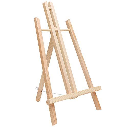 Cettkowns Caballete de madera de pino de 40,64 cm con marco en A, para manualidades, pintura, trípode, para niños, estudiantes, aula, escuela, pintura, fiesta, mesa de escritorio