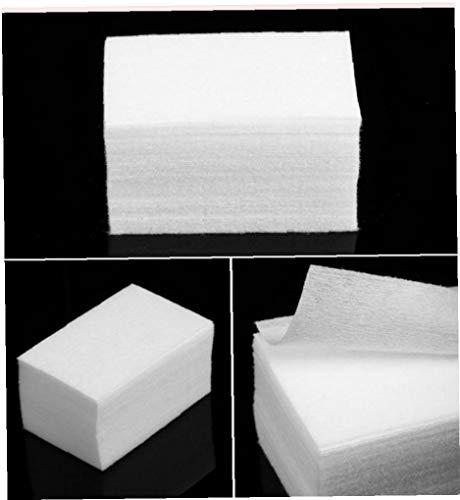 Hotaden 900pcs sin Pelusa de toallitas Todo para manicura quitaesmalte de uñas blocs de Papel Almohadillas de algodón Manicura Gel Herramientas