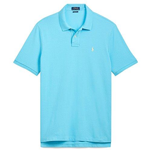 Polo Ralph Lauren, Herren, maßgeschneidertes Slim-Fit-Poloshirt aus Piqué -  Blau -  Klein