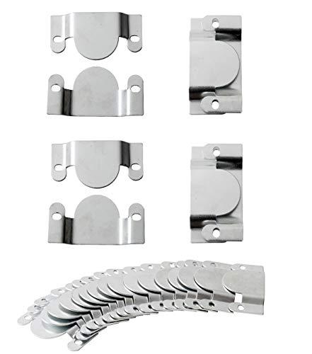 IPEA 20 Ganchos de Conector Grande para Muebles y sofás – 10 Pares de Ganchos – Soporte de Metal para Marcos de Fotos y Espejos de Pared, Metal, 96 x 50 mm