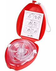 SHINA RCP rescate médico máscara de la máscara de bolsillo de reanimación del estuche rígido del rescate médico