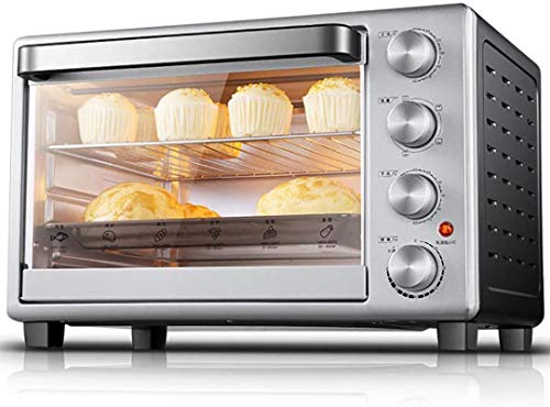 Mini Oven Electric 32L,with Temperature Setting 60-250℃ and 60 Mins Timer, 1600W Double Glazed Door Toaster Oven