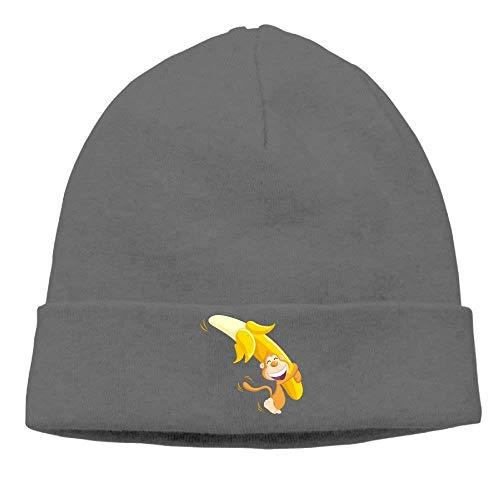 Unisex Beanies Caps Monkey And Banana Skull Hats Soft Hedging cap