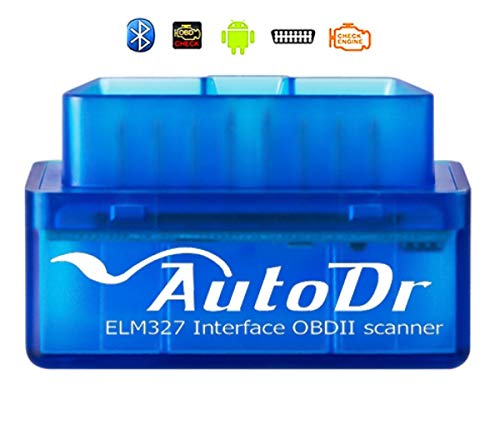 AutoDr Bluetooth OBD2 Scanner Mini OBD Car Diagnostic Code Reader for Android & Windows, Check Engine Light Scan Reader. Supports Torque Pro & Lite, OBD Reader