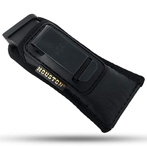IWB Magazine and Multi Use Holster - by Houston - Concealment W Clip Fits Most Double Stack 9/40 mm. for Full Sizes & mid Sizes Guns Like Glock 19/17/21, Beretta, Ruger (CHMP5)