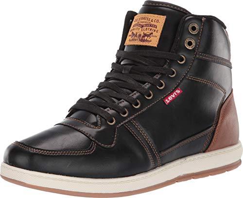 Levi's Mens Stanton Burnished BT Fashion Hightop Sneaker Shoe, Black/Tan, 12 M
